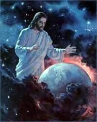 Jesus-coming-thru-universe